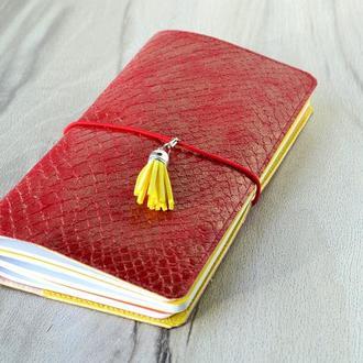 Midori-блокнот со сменными вставками, Красный