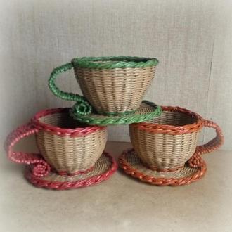 Декоративная чашка- конфетница