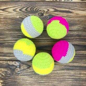 Вязаные шары, вязаный мячик, игрушка для кошки для котёнка, мячик для кота