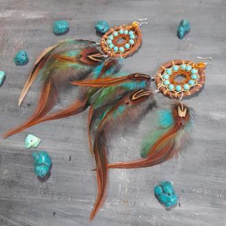 Серьги ловцы снов Индейская принцесса