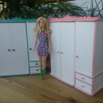 Шкаф для барби (Hand Made) Кукольная мебель