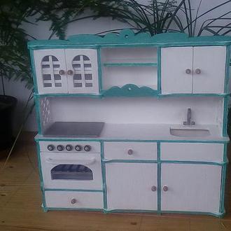 Кухня для барби. Кукольная мебель
