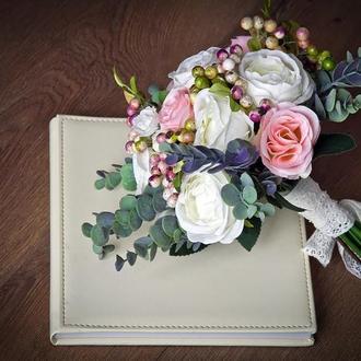 Свадебный букет невесты (искусственные цветы)