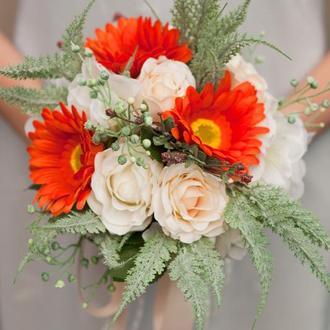 свадебный букет невесты (искусственные цеветы)