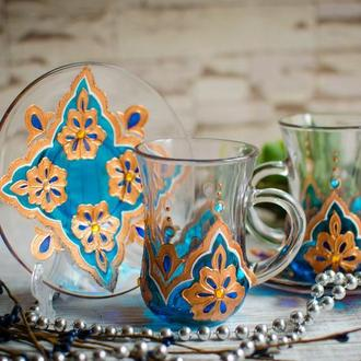 Чайная пара для восточного чаепития - армуды ′Восточная сказка′