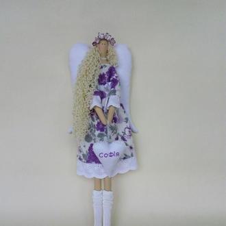 Кукла Ангел тильда. Текстильная кукла Ангел. Именной ангел. Tilda doll. Интерьерная кукла Ангел.