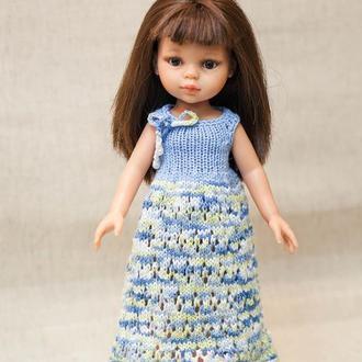 """Платье на куклу Паола 32 см """"Ажурчик"""""""