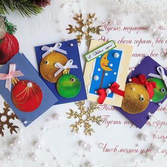 Набор маленьких новогодних открыток.