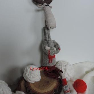 Рождественский лось. Олень. Тильда. Подарок. Декор на Новый год.