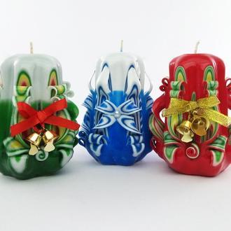 Колокольчики, резные свечи