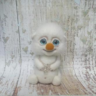 """Інтерєрна іграшка """"малюк Щастя"""" білосніжний"""
