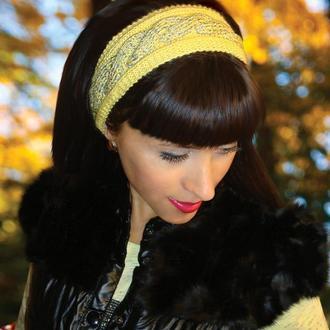 Стильная вязаная повязка на голову - charming lady
