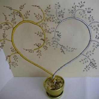 Подарок-сердце из бисера