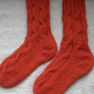 """Вязаные носки """"Мандариновая нежность!"""""""