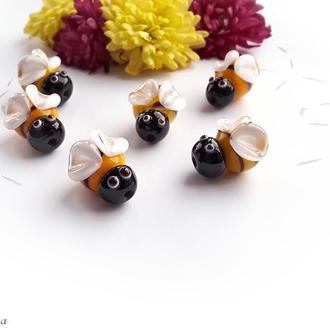 Бусина Пчела лемпворк стекло