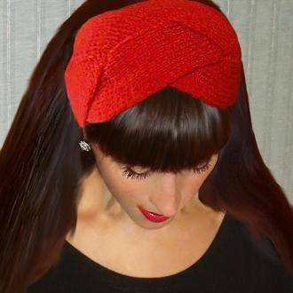 Вязаная повязка на голову - chic