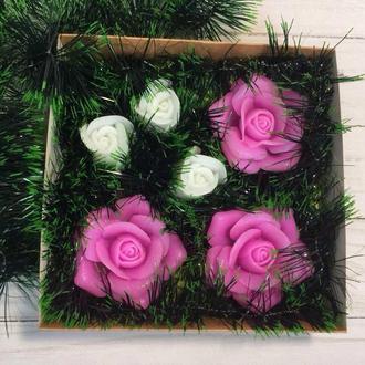 """Сувенирное мыло, набор """"Розы и бутоны"""""""