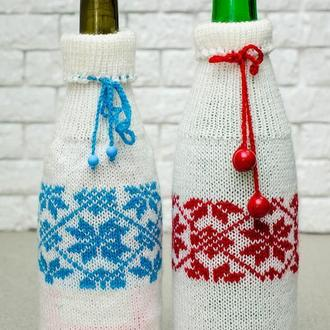 Новогодний сувенир, декор украшение на шампанское