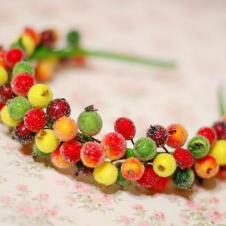 Обруч ободок осенние ягоды калины
