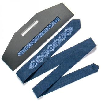 Вузький вишиту краватку №720