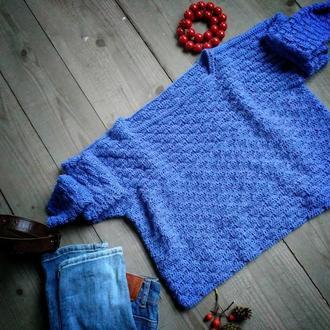 Волошковий светр