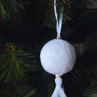 Вязаный, новогодний шар, игрушка