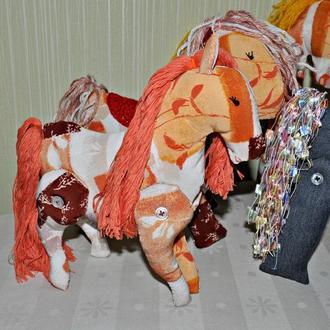 М'які іграшки коні, поні, конячки тільда