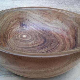 Деревянная пиала  из  дерева Катальпа( экзотическая порода )