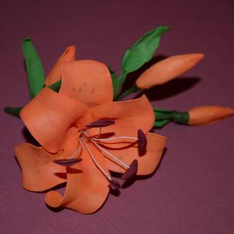 Брошь, заколка, интерьерный цветок.