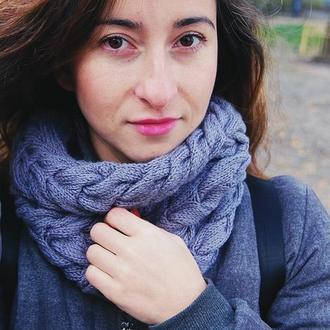 Снуд хомут  шарф вязаный