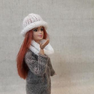 Одежда на куклу. Теплый комплект на Барби