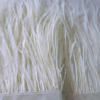Тесьма ( лента) страусиная светлое молоко для украшений, декора