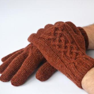 Шерстяные перчатки для мужчин