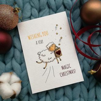"""Рождественская открытка  """"Magic Christmas"""""""