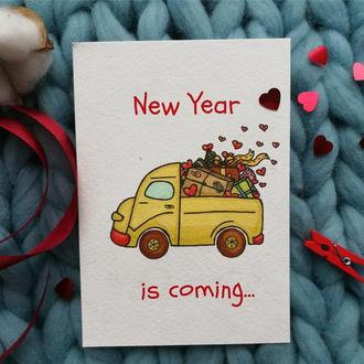 "Новогодняя открыточка ""New year is coming..."""