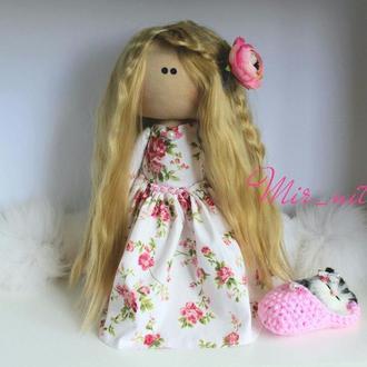 Кукла из ткани Тильда кот