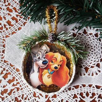 Подарки на новый год 2018 Символ 2018 года Собака Подвеска медальон на елку