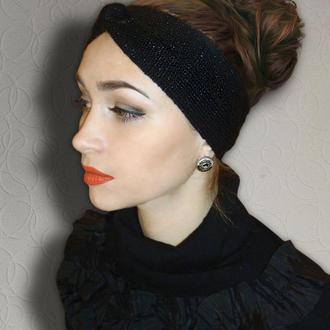 Вязаная повязка на голову - чалма