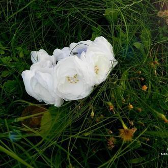 Венок ( обруч ) из шелковых цветов