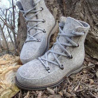 Ботинки женские валянные из натуральной шерсти