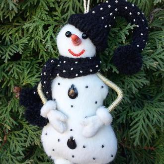 """Ёлочная, интерьерная, новогодняя игрушка """"Снеговик"""""""
