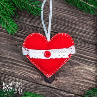 """Новогоднее украшение елочная игрушка """"Горячее сердце"""""""