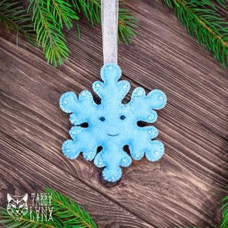 """Новогоднее украшение елочная игрушка """"Снежинка"""""""