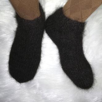 Укороченные носки из собачьей шерсти натуральные теплые Эко шерстяные носочки