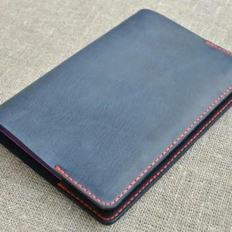 Обложка для блокнота темно-синего цвета B08-600+red