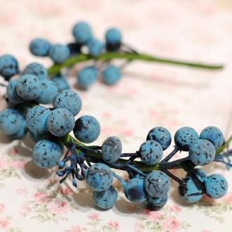 Обруч ободок венок с ягодами черники