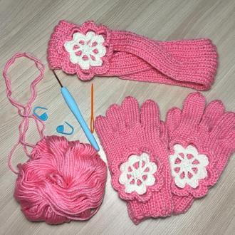 Комплект повязка и перчатки на 3-4 года