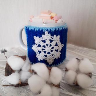 "Одежда для чашки ""Снежинка"""