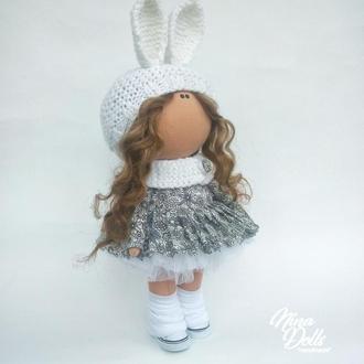 Інтер'єрна лялька Сіра зайка