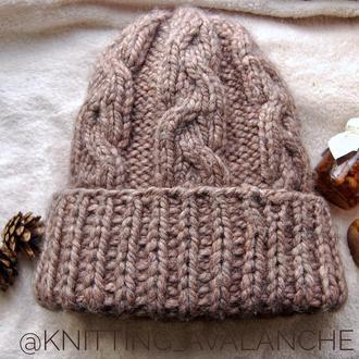 Комплект теплая зимняя шапка + снуд